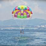 Полёт на парашюте в Геленджике (подъём с катера)