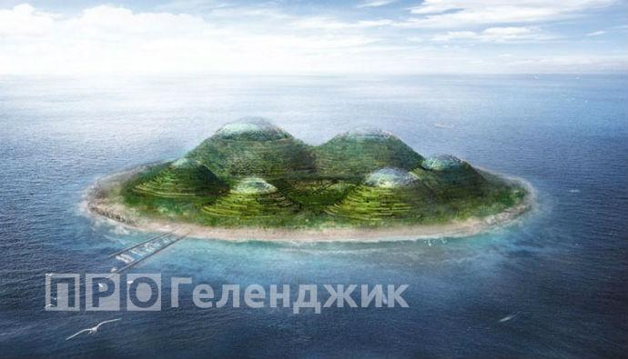 насыпной остров в Геленджике