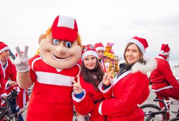 Флэш-моб Дедов Морозов и Снегурочек